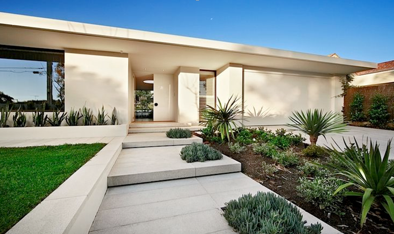 Contemporary front garden design ideas