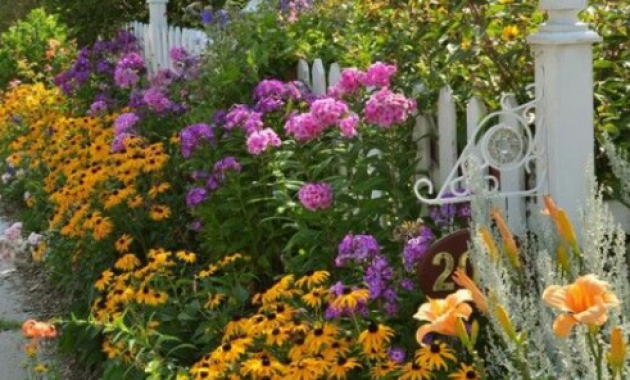 Cottage garden design for front yard