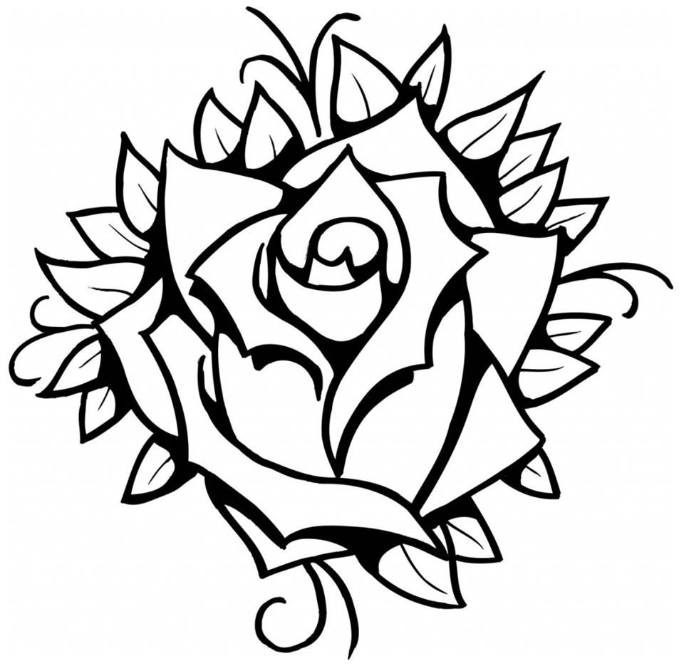 How to Draw a Rose the Easy Way