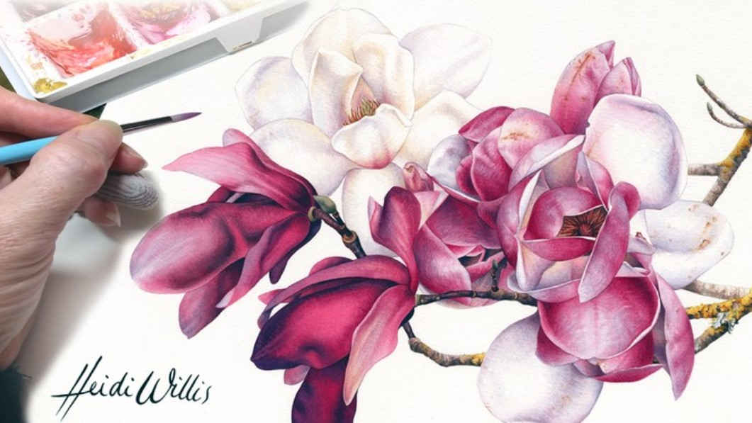 How to Paint Flower with Watercolors